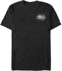fifth sun star wars men's millennium falcon pocket logo short sleeve t-shirt