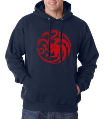 fire and blood targaryen sigil mother of dragons got unisex hoodie navy
