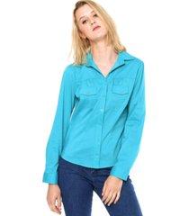 camisa love poetry com franzido verde