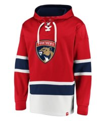 majestic florida panthers men's power play lace up hoodie