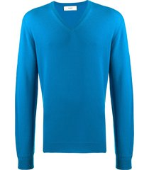 pringle of scotland v-neck sweatshirt - blue
