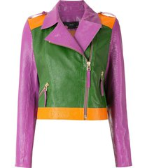 eva couro perfecto jacket - multicolour
