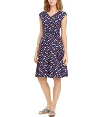 weekend max mara printed tie-waist dress