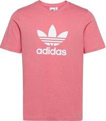 adicolor classics trefoil t-shirt t-shirts short-sleeved rosa adidas originals