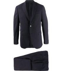 neil barrett blazer de alfaiataria com abotoamento simples - azul