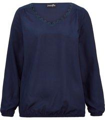 blus dress in marinblå