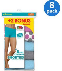 fruit of the loom 6pk cotton shortie assorted 6/m