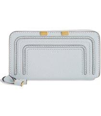 chloe 'marcie - long' zip around wallet in light cloud at nordstrom