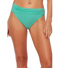 bleu by rod beattie kore sarong hipster bikini bottoms, size 8 in biscay green at nordstrom