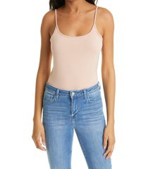 women's l'agence ford tank bodysuit, size small - blue
