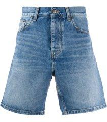 carhartt wip flared denim shorts - blue