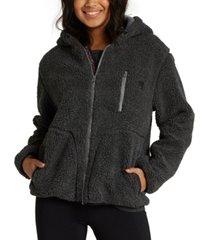 billabong switchback faux-sherpa hooded jacket