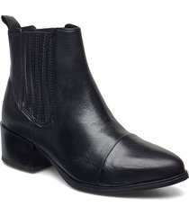 julia shoes boots ankle boots ankle boot - heel svart pavement