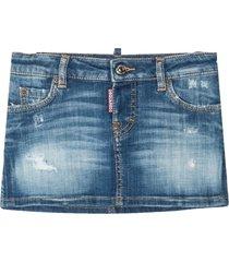 dsquared2 blue cotton denim skirt