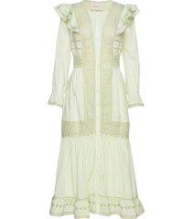 calida dress knälång klänning grön by malina