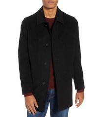 men's cole haan italian wool blend overcoat, size large