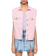 chaleco rosa pepe jeans