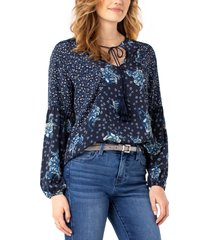 women's liverpool los angeles floral block print top