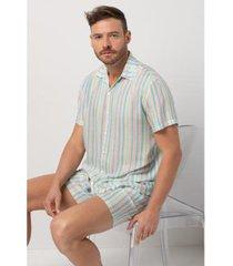 conjunto de pijama acuo retrô verão retrô masculino