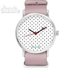 love dots - szary - zegarek makaliboo