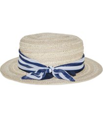 nine west wheat-straw boater hat