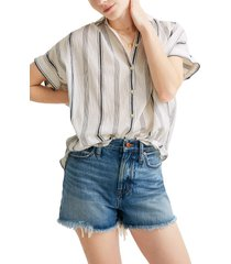 women's madewell central parkman stripe shirt