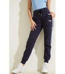 spodnie z logo i bocznymi paskami