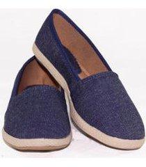 alpargata feminina conforto gomes shoes jeans - feminino