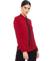 blusa io rojo - calce regular