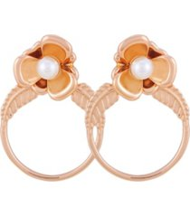 t tahari fall in love with florals hoop earring