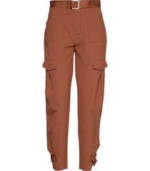 skunk trouser pantalon met rechte pijpen bruin holzweiler