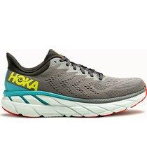 hoka one one sneakers clifton 7 colore grigio