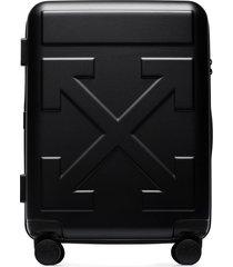 off-white arrow-detail trolley suitcase - black