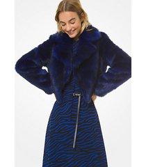 mk giacca in pelliccia sintetica - twilight blue - michael kors