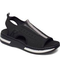 v59b5-00 shoes summer shoes flat sandals svart rieker