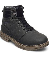 high cut shoe new upstate snörade stövlar svart champion
