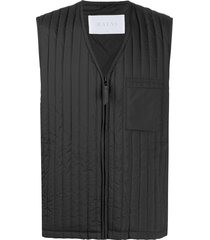 rains bodywarmer vertical quilted gilet - black