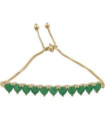 pulseira papillô gravata corações em ouro 18k - kanui