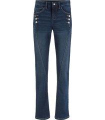 jeans elasticizzato con bottoni authentik straight (blu) - john baner jeanswear