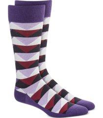 alfani men's abstract triangle socks, created for macy's