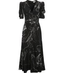 alexander mcqueen rear-zip printed long dress