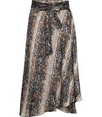 skirt knälång kjol multi/mönstrad ilse jacobsen