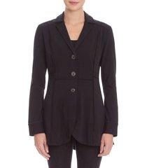 women's nic+zoe seamed stretch knit riding jacket, size small - black