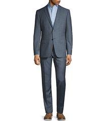 slim-fit bedford plaid wool suit