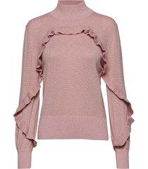 nailah gebreide trui roze munthe