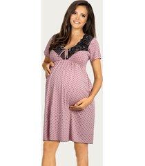 lupoline zwangerschapsjurk / voedingsjurk pink dots