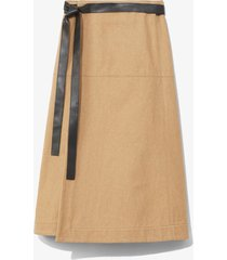 cotton canvas wrap skirt