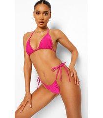 essentials itsy bitsy tie side bikini brief, bright pink