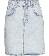 mom denim skirt kort kjol blå gina tricot