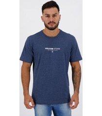 camiseta volcom silk clock worker marinho - masculino